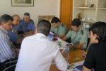 Una de las reuniones preparativas de un operativo de seguridad desplegado en el municipio de Pájara.