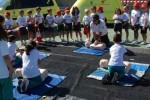 Un millar de niños del Colegio Claret asisten a la jornada de seguridad y emergencias organizada por el 1-1-2 Canarias