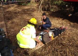 El SUC participó hoy en un simulacro de intervención ante un seísmo organizado por el Colegio de Enfermería